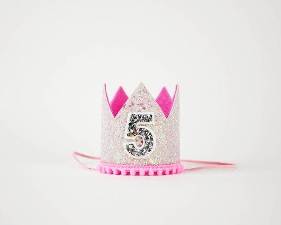 5th Birthday Crown Unicorn Birthday Crown 5th Birthday
