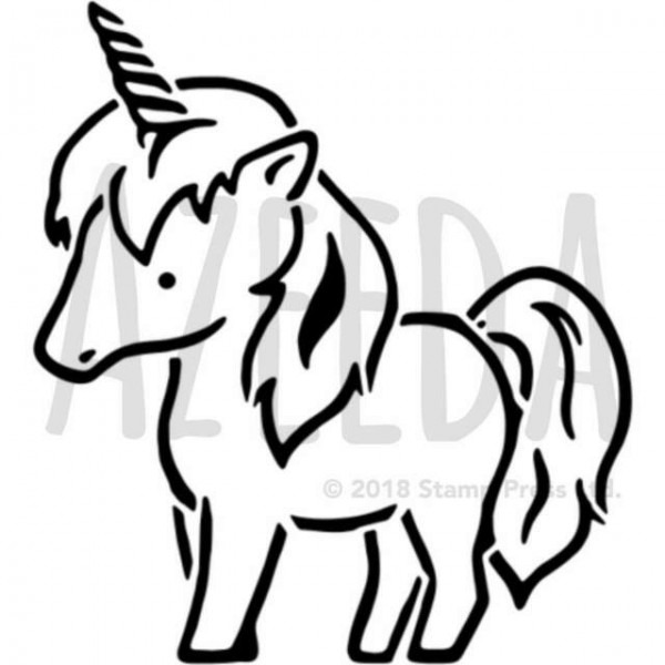 A5 'cute Unicorn' Wall Stencil   Template (ws00024196) For Sale