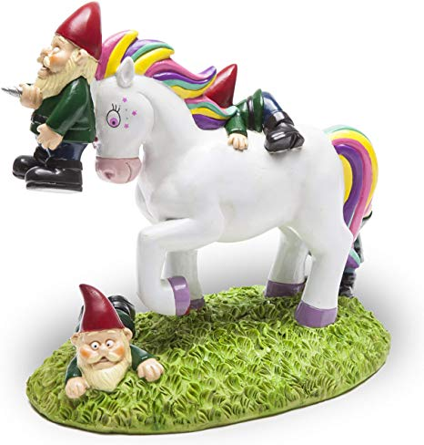 Amazon Com   Bigmouth Inc  The Unicorn Garden Gnome Massacre