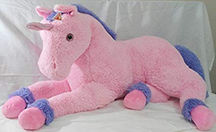 Amazon Com  Dakin Pink Unicorn Pony 55  Lifesize Huge Jumbo Plush