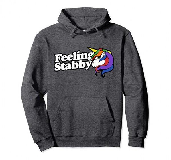 Amazon Com  Feeling Stabby Pullover Hoodies Funny Stabby Unicorn
