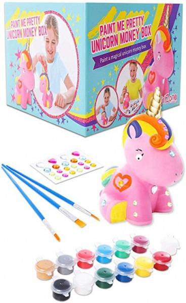 Amazon Com  Girlzone  Paint Your Own Unicorn Money Box For Girls