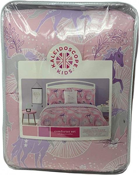 Amazon Com  Kaleidoscope Kids Pink Unicorn Bedding Set With Twin