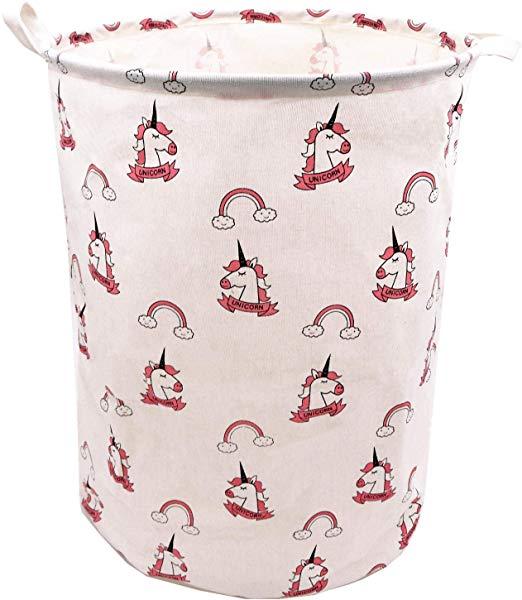 Amazon Com  Pink Rainbow Unicorn Laundry Hamper For Girls 19 7 X