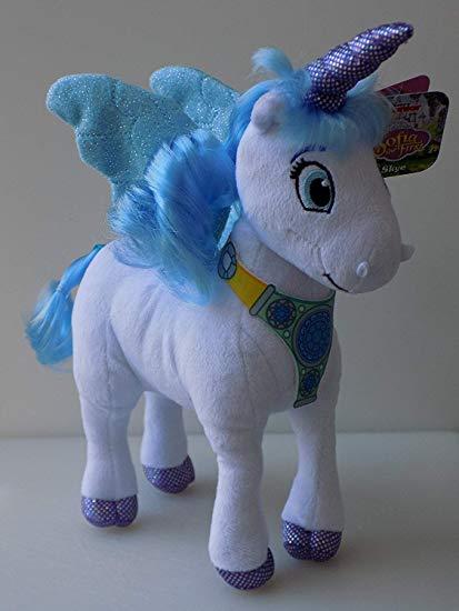 Amazon Com  Sofia The First Skye Unicorn Plush 9   Toys & Games