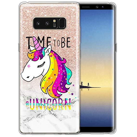 Amazon Com  Time To Be A Unicorn Samsung Galaxy Note 8 Case Clear