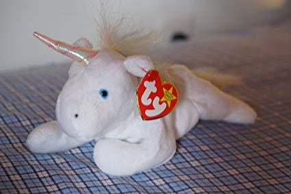 Amazon Com  Ty Beanie Babies Mystic The Unicorn, Fuzzy Rainbow