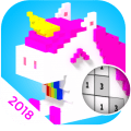 Unicorn 3D Coloring By Number