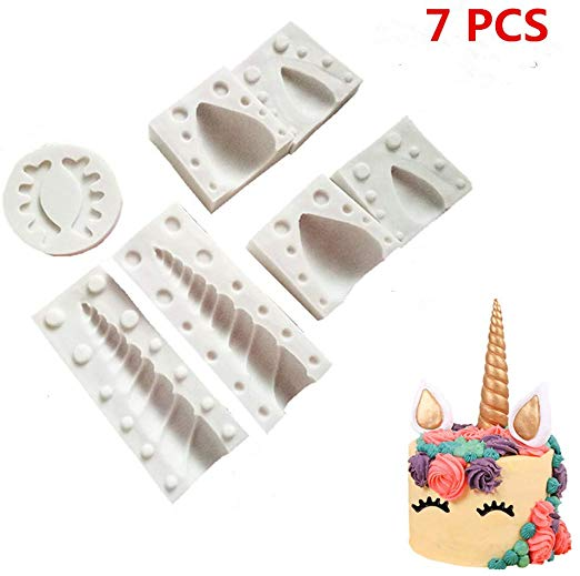 Amazon Com  Unicorn Horn Silicone Mold With Ears And Eyes Set For