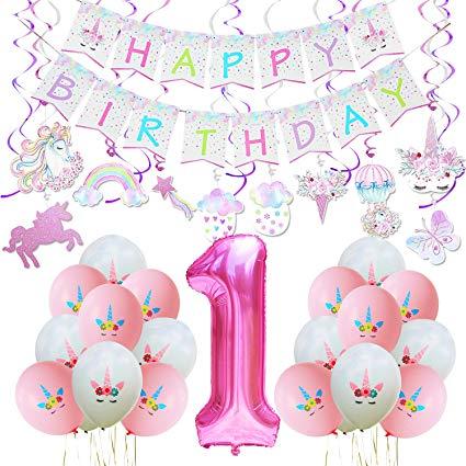 Amazon Com  Wernnsai Unicorn Party Decoration Kit