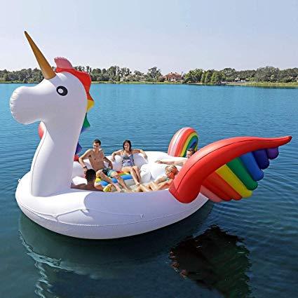 Amazon Com  Zoostliss Huge Party Bird Island Giant Unicorn Pool