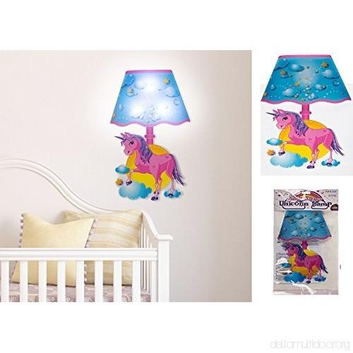 Aqs Plastic Unicorn Wall Sticker Led Lamp Shade Kids Bedroom Night