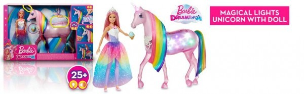 Barbie Fxt26 Dreamtopia Magical Lights Unicorn With Lights And