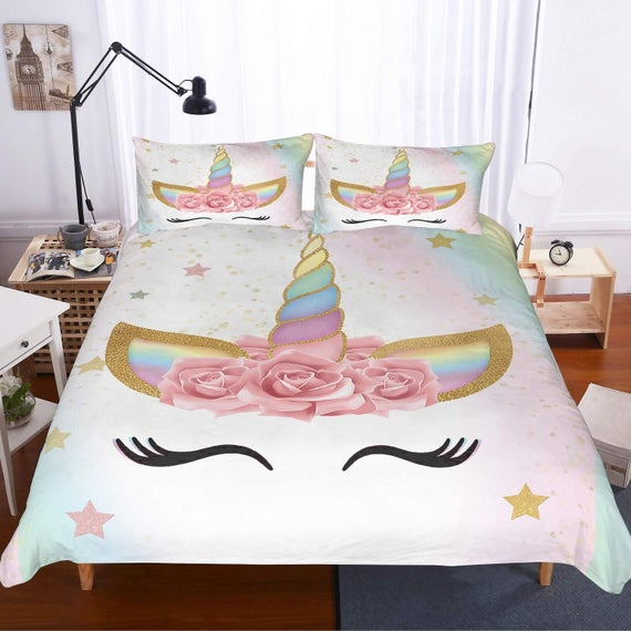 Bed Sets Unicorn Bedding Quilt Cover Duvet Cover With