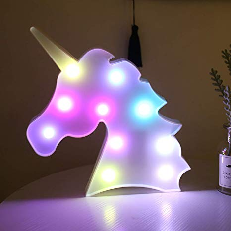 Bivisen Unicorn Led Night Light, Led Unicorn Lamps, Battery