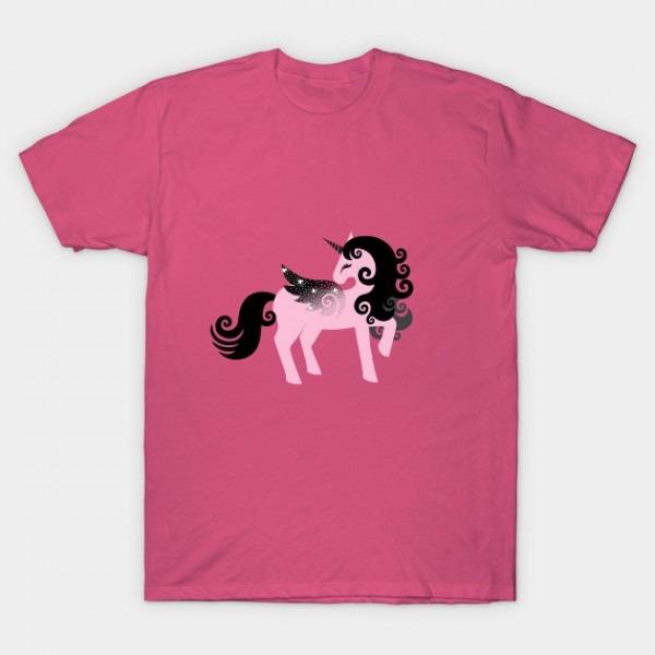 Black And Pink Unicorn