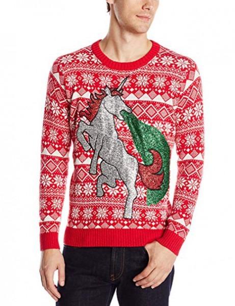 Blizzard Bay Men's Sparkle Unicorn Ugly Christmas Sweater  Amazon