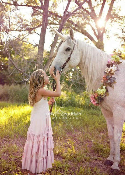 Champagne Unicorn Horn Pony Size 8  Long Costume Piece For A Live