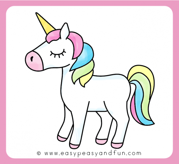 Color Your Unicorn Drawing