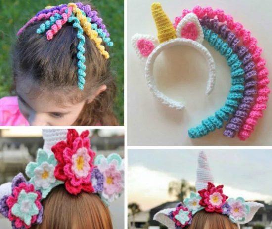 Crochet Unicorn Headband Pattern