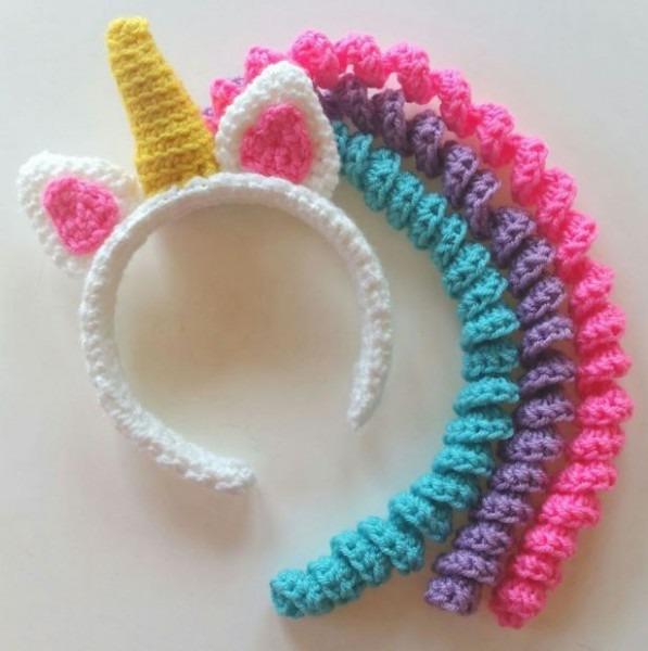 Crochet Unicorn Headband Patterns
