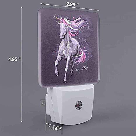 Customize Night Light Magical Violet Unicorn Bright Pink Uk