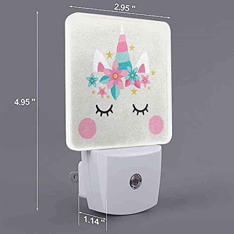 Customize Night Light Unicorn Cute Cake Decoration Elements Uk