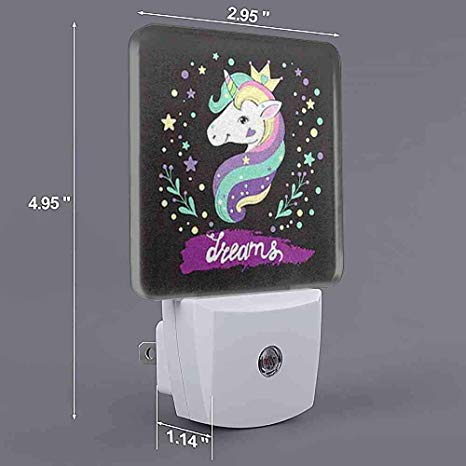 Customize Night Light Unicorn Pop Art On Black Uk
