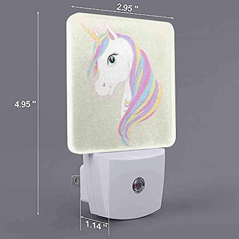 Customize Night Light White Unicorn Vector Head Mane 8 Uk