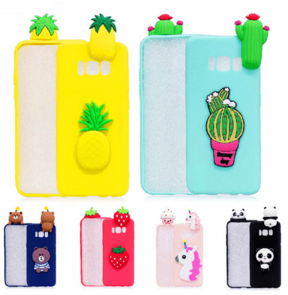 Cute Samsung Note 8 Cases Cartoon Bear Panda Unicorn Banana Cases