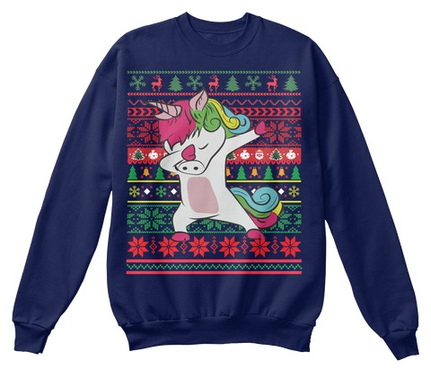 Dabbing Unicorn Ugly Christmas Sweater Products From Ugly