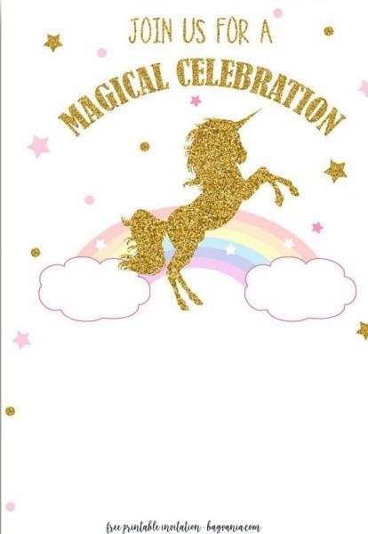 Free Unicorn Invitation Templates