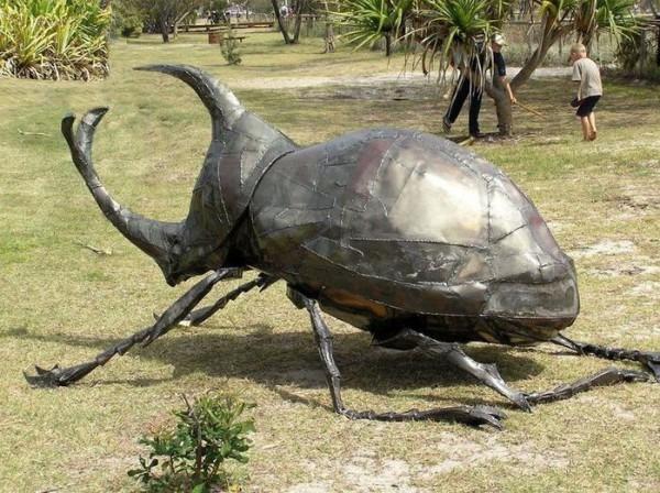 Giant Beetle Sculpture From Currumbin, Gold Coast, Australia