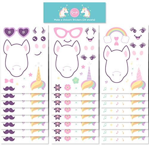 Gooji Make A Unicorn Stickers For Kids (24 Sheets) Reusable
