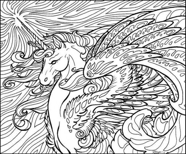 Horse And Unicorn Coloring Pages