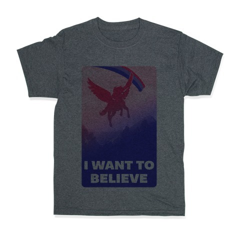 I Want To Believe Bisexual Unicorn T