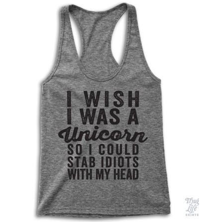I Wish I Was A Unicorn Racerback