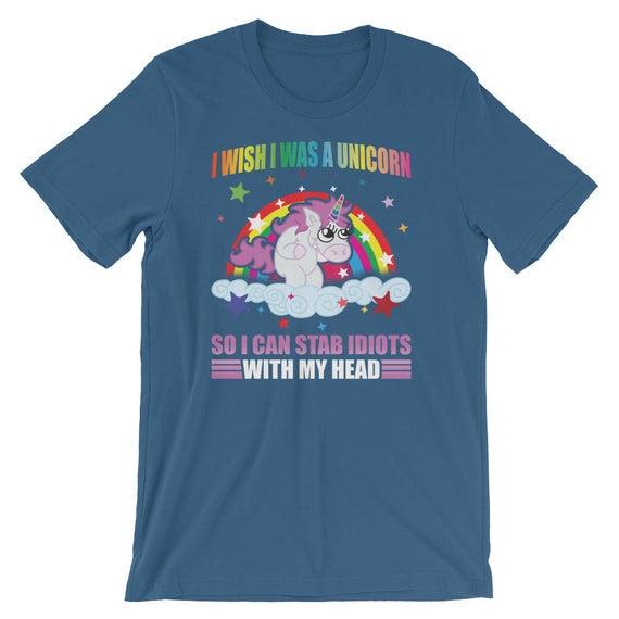 I Wish I Was A Unicorn Shirt Funny Unicorn Unisex T