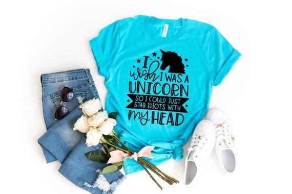 I Wish I Was A Unicorn Unicorn Shirt Unicorn Lover Unicorn