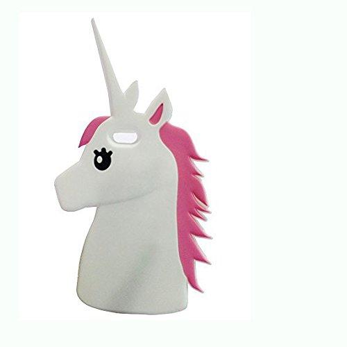 Iphone 5 5s 5c Mingfung 3d Cute Cartoon Unicorn Silicone Case Skin