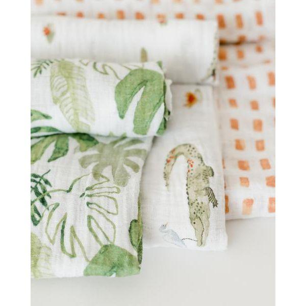 Little Unicorn Cotton Muslin Swaddle 3 Pack