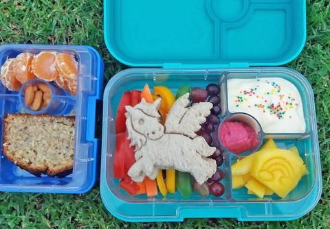 Lunchbox Inspiration – The Lunchbox Queen  Rainbow Unicorn Bento