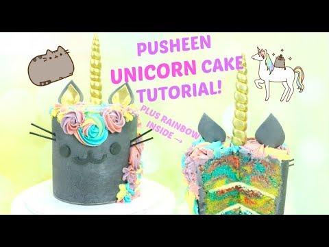 Magical Pusheen Rainbow Unicorn Cake Tutorial!