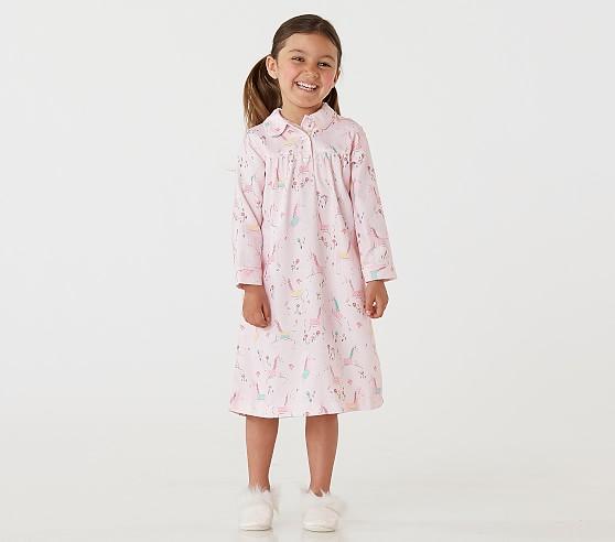 Magical Unicorn Girls' Flannel Nightgown