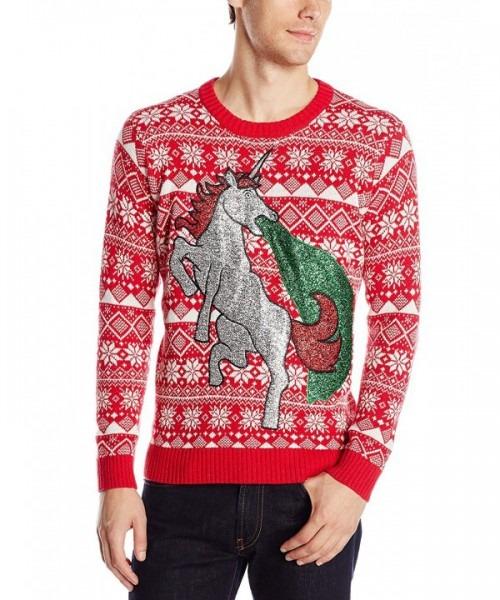 Men's Sparkle Unicorn Ugly Christmas Sweater