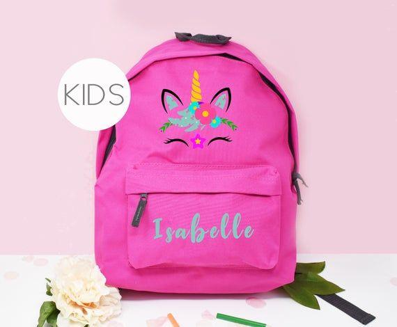 Personalised Unicorn Backpack, Unicorn School Bag, Kids Unicorn