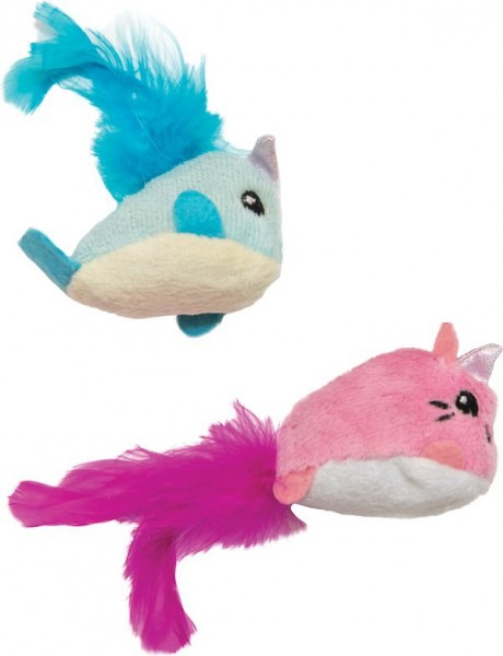Petstages Unicorn Cat & Narwhale Cat Toy, One Size, 2