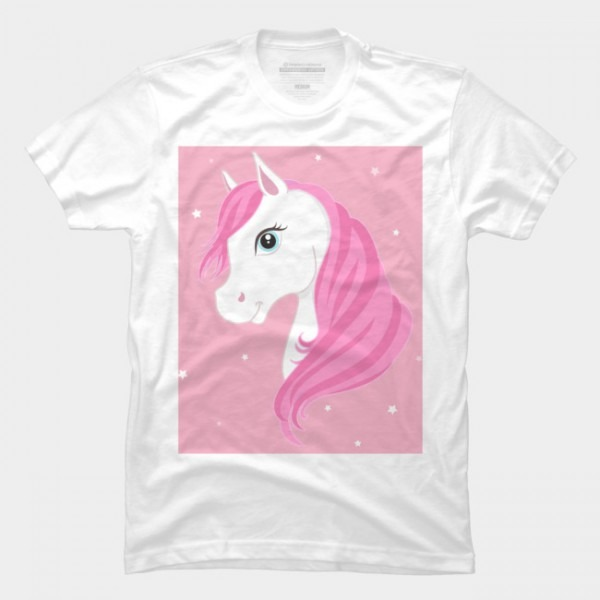 Pink Unicorn T Shirt By Newburyboutique Design By Humans