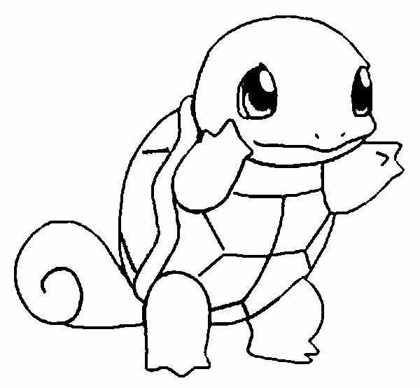 Pokemon Turtle Unique Coloring Pages