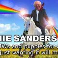 Bernie Sanders On A Unicorn